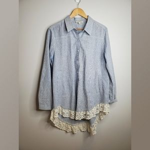Umgee Long Button Up Tunic Style Top
